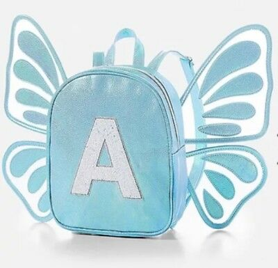 NWT Justice Butterfly Wing Initial MINI Backpack! Choose G, H, P or R! 🦋🦋🦋