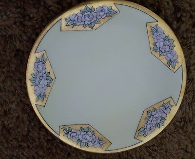 """Vintage/antique Bavaria Hand Painted Gold plate  10"""" Plate"""