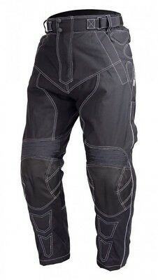 Motorcycle Polyester OverPants Black with Removable CE Armor OP-5