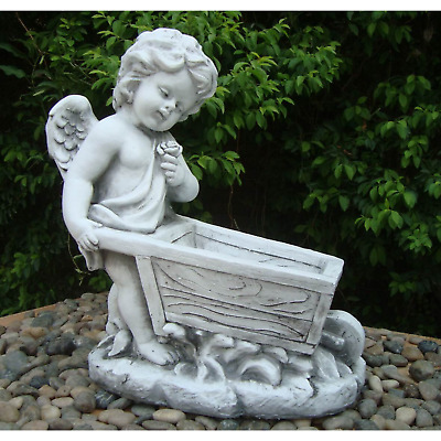 Statue Angel Cart 48X25X52Cm