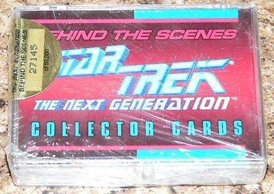 . Star Trek The Next Generation Behind the Scenes by Skybox in 1993. Sealed Set