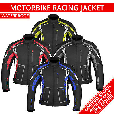 Motorbike Jacket Motorcycle Waterproof Textile Cordura Jacket Coat CE Armoured