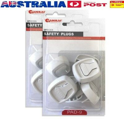 12 pcs Baby/Child Power Point Cover/Board/Safety Plugs/Protective/Outlet/NZ/AU