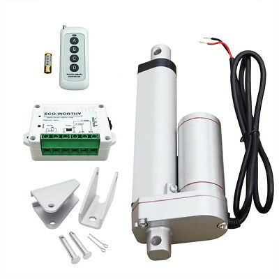 Heavy Duty 12V 4'' 330lbs Max Lift Linear Actuator W/ Wireless Motor Controller