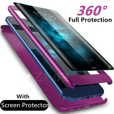 Luxury 360 Degree Full Cover Phone Case For Samsung Shockproof With Screen Film