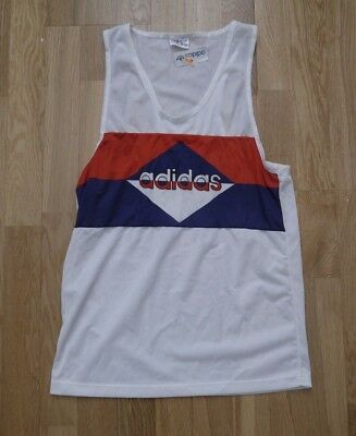 Vintage ADIDAS Retro Jogging Vest Made In France with Tags Small T-shirt