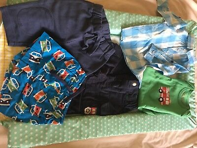 Frugi 0-3 Month Boys Warehouse bundle, Tractor Trousers, Vest, Shirt