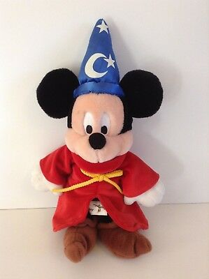 "Disney World Mickey Mouse Sorcerer Bean Bag Resort 12"" with Tags"