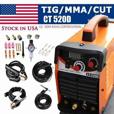 3In1 Plasma Cutter Ct520D 50A/200A Tig Mma Welder Great Fastship Dc/output
