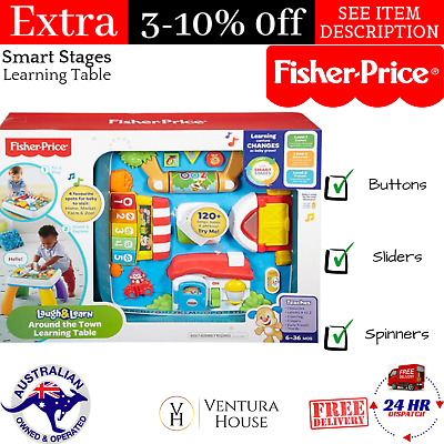 Fisher-Price Smart Stages Learning Table Laugh & Learn Musical Activity Fun Toy