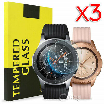 [3 Pack] Samsung Galaxy Watch 42mm 46mm S2 S3 Tempered Glass Screen Protector