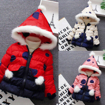 Kids Baby Winter Cartoon Coat Cloak Jacket Thick Warm Hooded Outerwear Clothes P