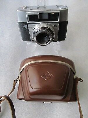 Vintage 1960's AGFA OPTIMA II 35mm automatic Camera and leather case - Germany