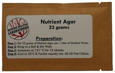 Nutrient Agar 23grams (Dehydrated)- Yields 1 Liter (40-50, 100mm plates)