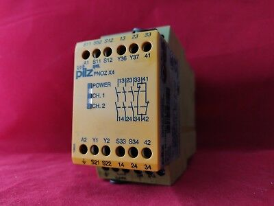 Pilz Pnozx4 4.5Va 110Vac 50-60Hz Safety Relay 774734