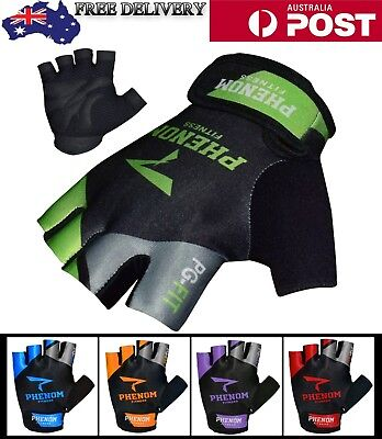 Weight Lifting Bodybuilding Gym Fitness workout Leather Gloves Slim Fitting