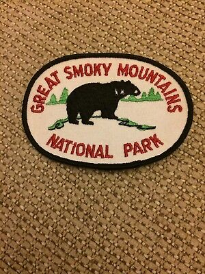 Vintage Great Smoky Mountains National Park Black Bear Patch Mint New Rare NOS
