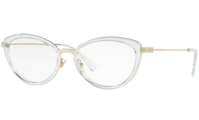5cb42b08826a Authentic VERSACE 1244 - 1405 Eyeglasses Gold   Azure Transparent  NEW  53mm