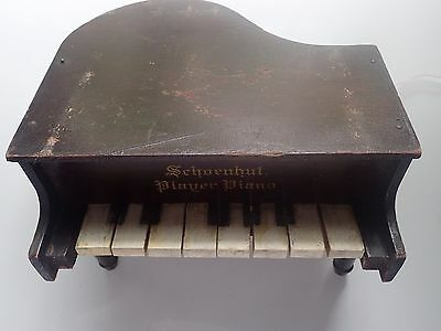 Vintage 1940's German Made Wooden Replica Piano Music Box