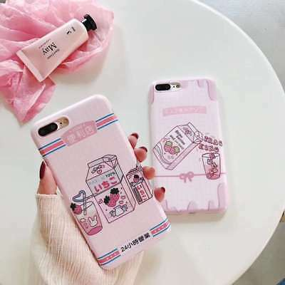 Fashion New Juice Milk Cartoon Silicone Soft Case Cover For iPhone 6 6s 7 8 X XS