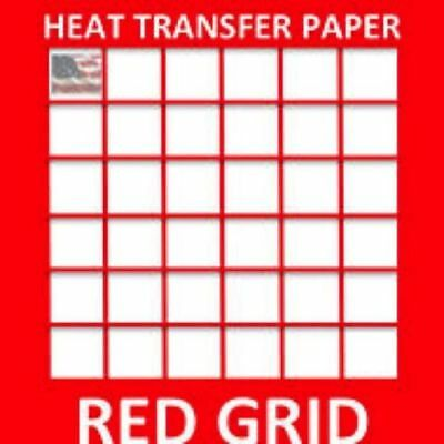 HEAT TRANSFER PAPER RED GRID IRON ON LIGHT T SHIRT INKJET PAPER 100 Sheets 11X17