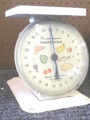 Vintage American Family Scale 25 Pound Kitchen Counter Scale r6-5