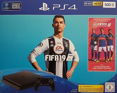 SONY Playstation 4 500GB Jet Black Fifa 19 Bundle - Neu & OVP, Händler