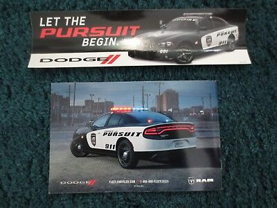 2018 17 Dodge Police Hemi Charger Sticker And Ram And Fleet Spec Guide Brochure