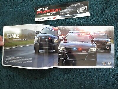 2018 Dodge Police Hemi Charger Ram And Durango Brochure And Pursuit Sticker