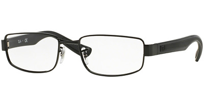 ed263a0ca67 AUTHENTIC RAY-BAN 6182 - 2509 Eyeglasses Silver on Black  NEW  53mm ...