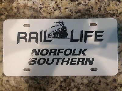 "Norfolk Southern Railroad License Plate, 6"" X 12"" Heavy Duty .50 thick Plastic."