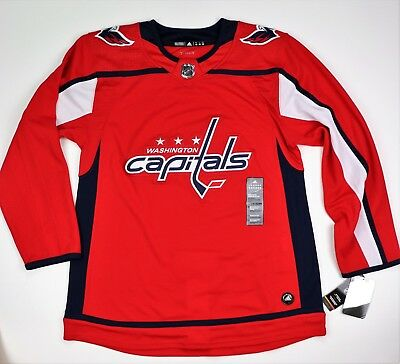 premium selection dff6e 9cc1b NEW MEN'S WASHINGTON Capitals Adidas Red Home Authentic Jersey Size 50 NHL