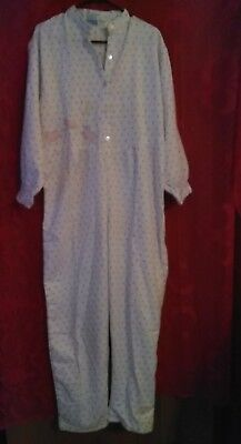 NEW One piece flannel pajamas (long John style) Nite Mates  size M