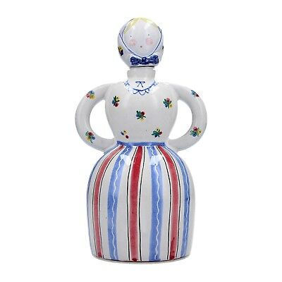 A vintage Scandinavian pottery decanter in the form of a woman