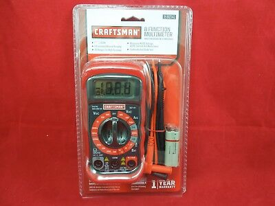 CRAFTSMAN DIGITAL MULTIMETER AC/ DC Tester volt ohm Meter 8 FUNCTION 34-82141