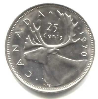 Canada 1970 25 Cents Choice BU UNC MS-63 Quarter!!