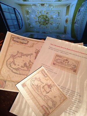 Vintage Map of Bermuda 1600's John Norwood .GIFT COLLECTION New