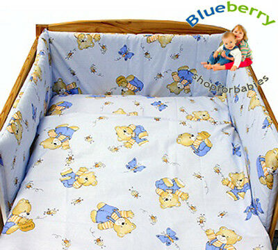BlueberryShop 2 pcs BABY COT BED BUNDLE BEDDING SET DUVET+PILLOW COVERS 90 x 120