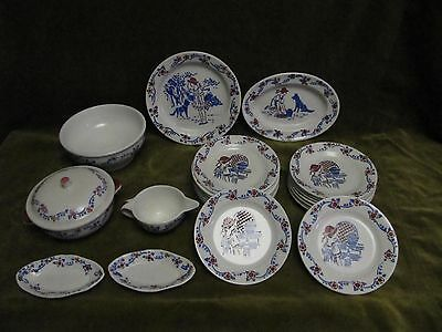 1930 Childs Miniature french Ironstone Dinner Service 23p Little red riding hood