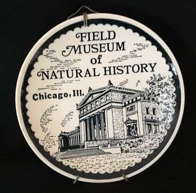 """Vintage Field Museum Of Natural History Chicago IL Collectors Plate W/ Hanger 7"""""""