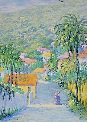 Lg Mary Lawrence 1974 Tropical Caribbean French Italian Impressionist Painting