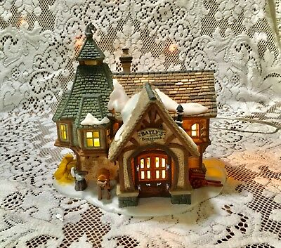 "Dept 56 Dickens Village ""Bayly'S Blacksmith "" Shop"