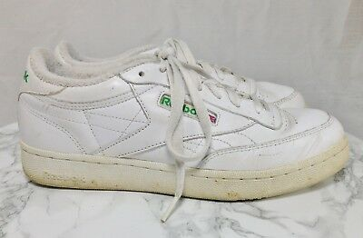 bdc6a3e071f Reebok Classic Vintage White Leather Lace Up Casual Sneakers Men Size 8