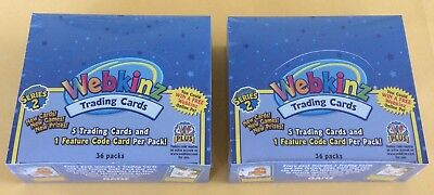 Lot Of 2 Webkinz Series 2 Trading Cards Wax Boxes