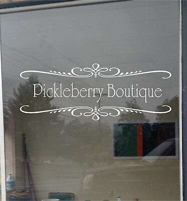 2 Color Custom Business Store Sign Vinyl Decal Sticker Lettering 22x35