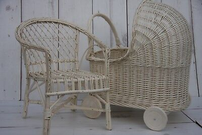 SMALL WICKER CHAIR for Children - stylish room - HAND MADE IN ECRU