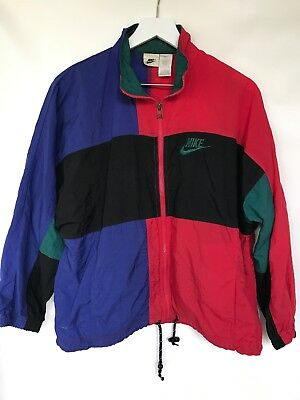 Vintage Nike Windbreaker Jacket Color Block Youth Large 14-16