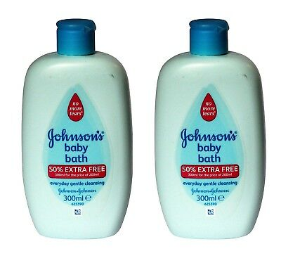 2 X Johnsons Baby Bath Everyday Gentle Cleansing 300ml - No More Tears