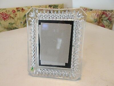 Beautiful WATERFORD Ireland Crystal Glass Picture Photo Frame w Label for 5x7