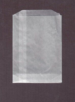 Small Glassine Bags #2 5 3/8 x 7 1/2 Pack Of 100 Stamp Coupon Wax Paper Holders